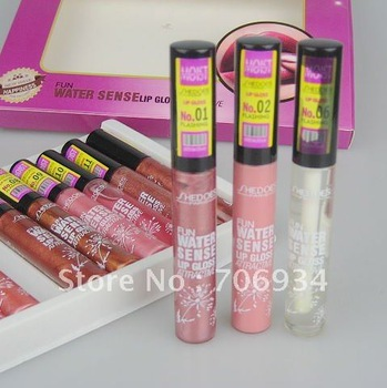 12 colors Pro Lip Gloss Lipstick Lipgloss Makeup High-Shine Gloss 1pcs /Color 12colors/packet 8301