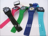 Super deal Free Shipping Hot-selling Nixion Watch with silicone band 7 colors of wristbands are Available G2 christmas