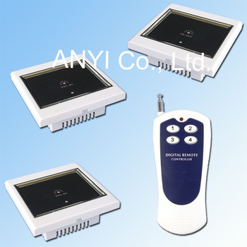 Free Shipping AC100~250 Volt 1 Gang Wireless Remote Control Touch Wall Light Switch Smart Home System LED Indication Lamp Switch