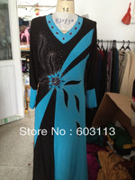 BZ052876 free shipping hot sell high quality  embroidered abaya