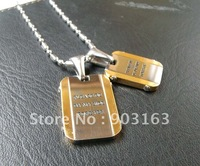 Wholesale a Pair best selling New Arrival Stainless Steel Lovers Pendant free Chain Gift + free shipping