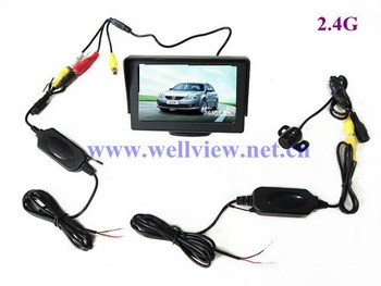 4.3inch Car Monitor 170 Degree HD Reverse Camera 2.4G Wireless Parking System