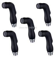 Wholesale +Low Freight  Womans Bathroom Shattaf head Plastic Handheld Bidet shower Sprayer head  TS078D Black