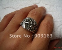 Wholesale 1Xpcs best selling New Arrival Man Stainless Steel Wedding Band Gift Ring by Free shipping Size 10