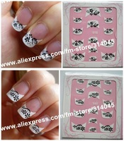 Newest 74 Styles 3D French Nail Sticker,3D French Nail Seal,French Nail Art Sticker,Nail Decoration Strips 500 Packs/Lot