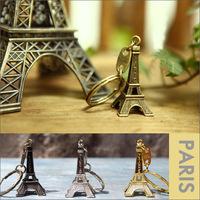 3D Eiffel Tower French France Souvenir Paris KeyChain Key Chain Key Holder Keyring 3 colors 50PCS/LOT
