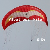5.5M2 power traction kite 4 line parafoil kite Free Shipping