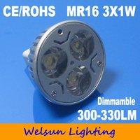 Free Shipping dimmable MR16 3W led lamp led bulb led spotlight