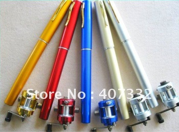 Fish Pen fishing rod pocket fishing rod  FISHING ROD  IN PEN CASE (Free Shipping) fishing line+ fishing reel