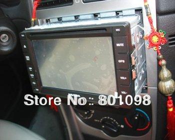Universal 2 Din car DVD navigator with DVD GPS bluetooth iPod radio steering wheel Free shipment