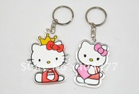 Free shipping,Hello Kitty Design Hard Plastic Keychain,Cartoon Hard Plastic Keychain,size:6cm*7cm*0.3cm
