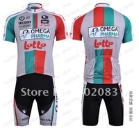Free shipping retail and wholesale,2011 LOTTO short-sleeved jersey, Cycling Wear