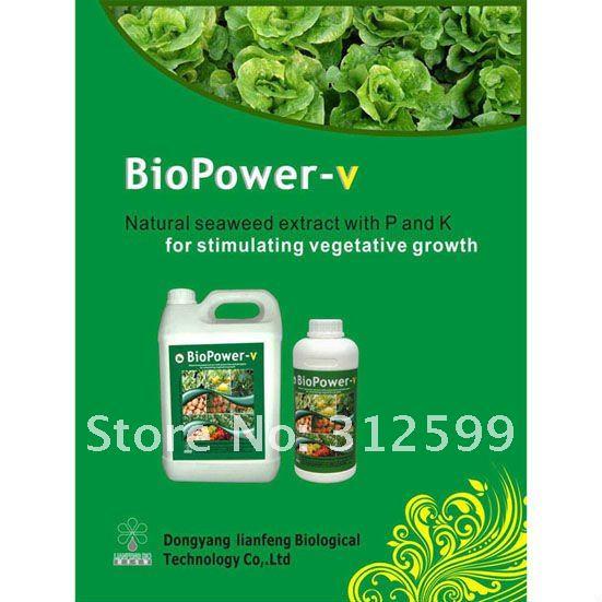 BioPower-v seaweed Organic Liquid fertilizer For stimulating vegetative growth(China (Mainland))
