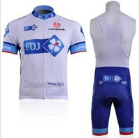Free shipping retail and wholesale,2011 FDJ sling, strap  short-sleeved jersey, Cycling Wear