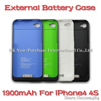 New Arrival 1900mAh External Backup Battery Charger For iPhone4 4S & Drop Shipping