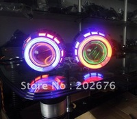 FREE SHIPPING, CHA DLand Dual Angel Eye Bi-xenon MINI HID Projector Lens