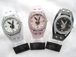 Wholesale lots 1 pcs fashion play boy quartz wrist watches 752y1(China (Mainland))