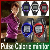 Freeshipping heart pulse watch Heart Rate Counter Calories Monitor Watch with retail box