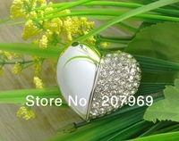 Free Shipping Guaranteed Full Capacity Crystal Heart of Love USB Flash Memory Drive