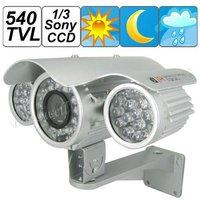 New Arrival, 540TVL 1/3 Sony CCD Waterproof Camera with 66pcs IR LED, 80M IR Distance