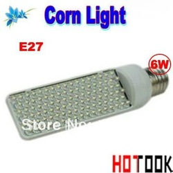 Dropship 6W E27 LED Corn Light Lamp Bulb 102leds 220V Hight power warranty 2 years CE ROHS x 5pcs/lot -- free shipping(China (Mainland))