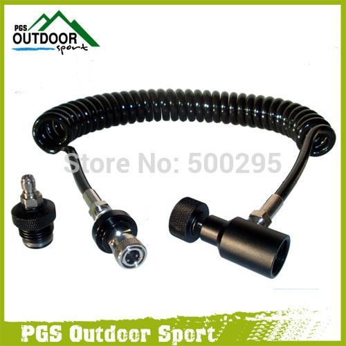 Аксессуары и Снаряжение для Пейнтбола PPS Airsoft /disonnect & hose лазерное оружие для пейнтбола