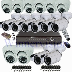 Home surveillance system 16 Channel IR cameras system / Home security cctv system - freeshipping(China (Mainland))