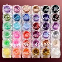 Hot Sell 5ml/pcs 36PSC/Set Nail Colorful Glitter UV Gel Set Sparkling UV Gel For Decoration Nail Art NA429