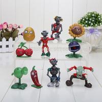 30set/lot Plants vs Zombies PVZ Collection Figures Wholesale 10pcs in one set Free shipping