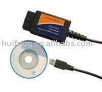 Free DHL Shipping! ELM327 Interface USB Auto Scanner V1.5 OBDII OBD2 OBD-II OBD-2