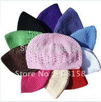 200pcs kufi hats girl crochet hat baby beanie crochet cap kufi caps toddler baby knited beanies,free shipping