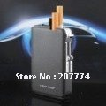Free shipping auto magic cigarette case with lighter,cigarette holder can hold 10pcs cigarette(China (Mainland))