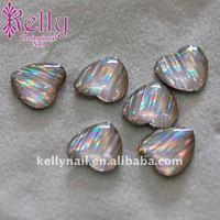 Free Shipping 144pcs/lot  12Colors Heart Shape  Nail Art Stone Laser Stone