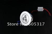 10pcs/lot Express shipping Warm White 3 Watt LED Light High Power Downlight 3x 1W