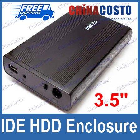 Wholesales 3.5'' USB IDE Hard Disk Drive HDD Enclosure Case,4pcs/lot,Free Sample