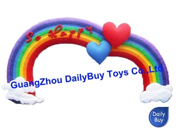 DAR01 6mL*4mH  inflatable wedding / love / rainbow arch / archway + Repait kits + CE Blower + Logo   100 Positive Feedback