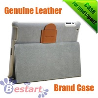 Free shipping, Gobillion, genuine leather, for ipad 2 leather case, for ipad 2 case, best quality, new design
