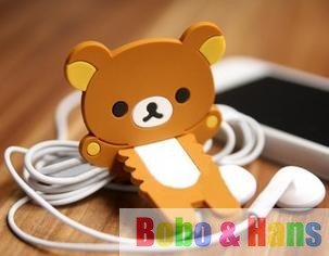 Cute Bear&cat  Earphone Winder/Wrap Cord Wire Management/Organizer/holder/coiling line device/Wholesale
