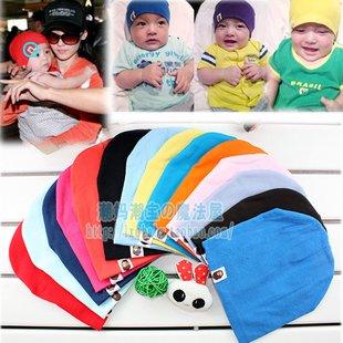 baby autumn hat! Skull bone cap Toddler Infant chlidren Kids Cotton colorful flower beanies gorro #2C2505 10 pcs/lot(14 COLORS)(China (Mainland))