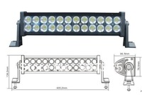 "72W 12"" off road light bars,OFFROAD LED light, LED WORK LIGHT,Free shipping"
