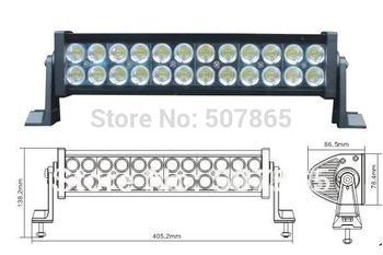 "led light bar 72W 12"" ALL4 OFFROAD ATV TRUCK BOAT car bus 4wd 4x4 suv off road WORK LIGHT led bar"