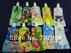 20pc/lot Free Shipping BPA free, Portable PE Foldable Water Bottle, Sports Water Bottle,480ml, 5 colors(China (Mainland))