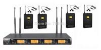 G-900L UHF 400 Channel Wireless Microphone System DJ & Karaoke 4 Lapel 4 Headset microphone (Bodypack Transmitter)