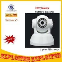 Wireless 3G Remote Pan/Tilt 300 KP CCTV Video Camera with 11-IR Night Vision/Microphone/TF