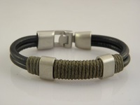 Min Order $20 Men's Handmade Leather Wristband Bracelets Top Quality Factory Price Stock