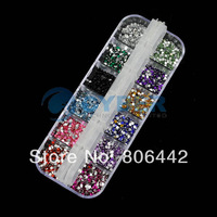 3000 pcs Mix Color Teardrop Nail Art Gems Rhinestones Deco Glitters Beautiful decoration 2064