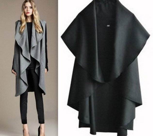 Free Shipping/Hot Sale Women's Fashion Wool Coat, Ladies' Noble Elegant Cape/Shawl. ladies poncho wrap scarves coat(China (Mainland))