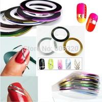Freeshipping!!! 100PCS 10 color Nail Art Tips Striping Tape Decoration