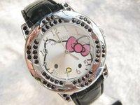 New Hello Kitty Crystal Wrist watches Fashion Watch Women's Watch 10pcs/lot