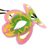 Hallowmas Venetian Masquerade MASKS Pink Butterfly Fashion Mask Dance Party MASK .Free Shipping. 100 PCS